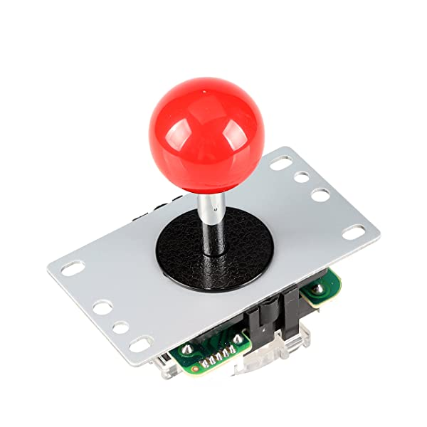 EG STARTS Red Arcade Classic Competition 5 Pin Stick 5P Rocker 4 - 8 Ways Joystick for PC Xbox 360 PS2 PS3 Games Arcade DIY Kit Parts Mame Jamma Machine Gaming (Color: Red)