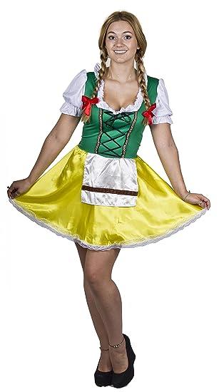 535453e2fa5 LADIES BAVARIAN BEER GIRL FANCY DRESS COSTUME OKTOBERFEST WOMENS ...