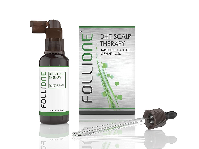FolliOne Traitement pour perte de cheveux par DHT et alopécie pour hommes. Soin pour la croissance des cheveux pour hommes. Evite la calvitie. Contient un mois de traitement.