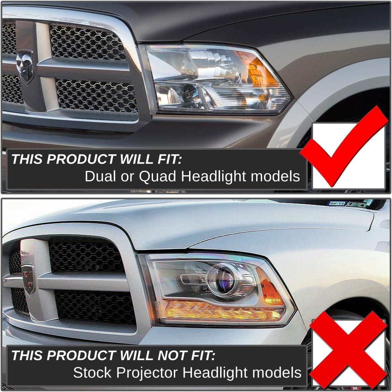 DNA Motoring HL-OH-DR09QUA-SM-CL1 Headlight Assembly Driver and Passenger Side