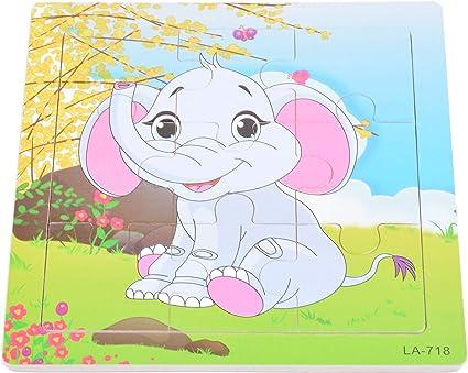 Tiny Souls Wooden Puzzle Happy Baby Elephant