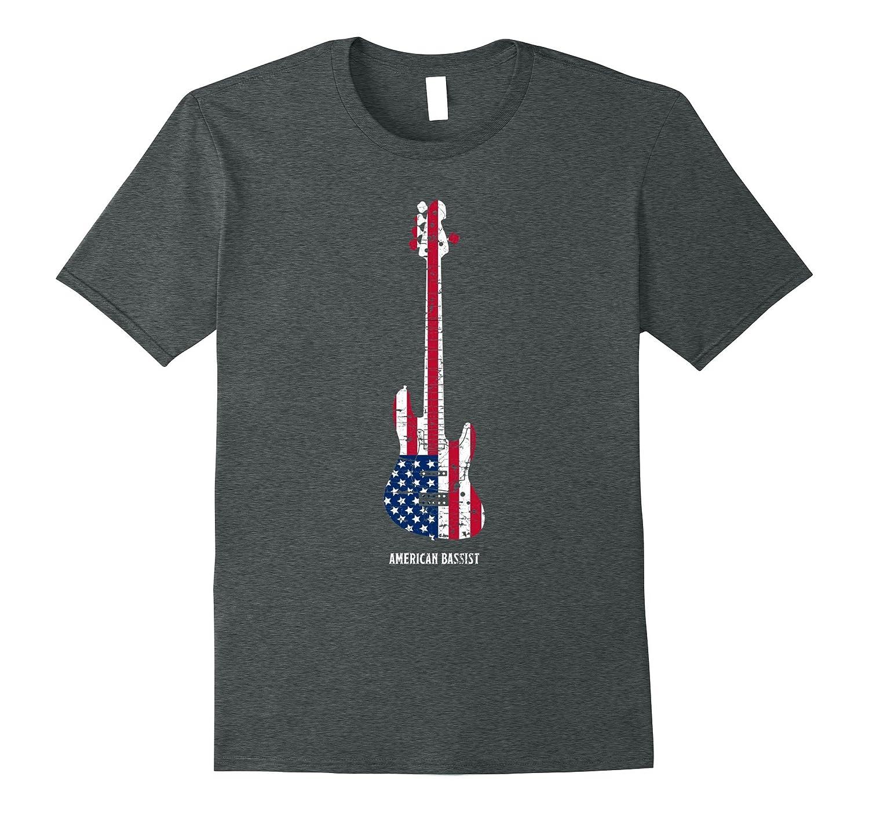 American Bassist Bass guitar Player T Shirt Music Gift Men