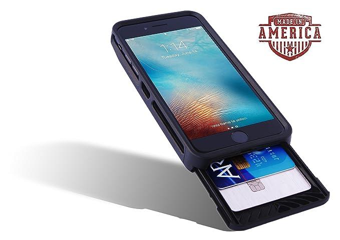 official photos a5e22 55a0b Amazon.com: Card Holder Case Designed for iPhone. Slider Wallet ...