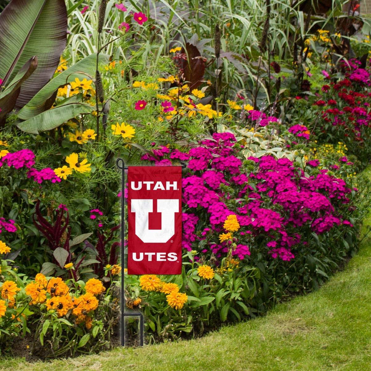 College Flags /& Banners Co Utah Utes Mini Garden and Flower Pot Flag Topper