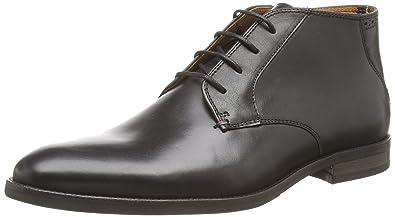 67b3687eec535 Tommy Hilfiger Men s Dalton 16A Cold Lined Chukka Boots Short Length Black  Size  9