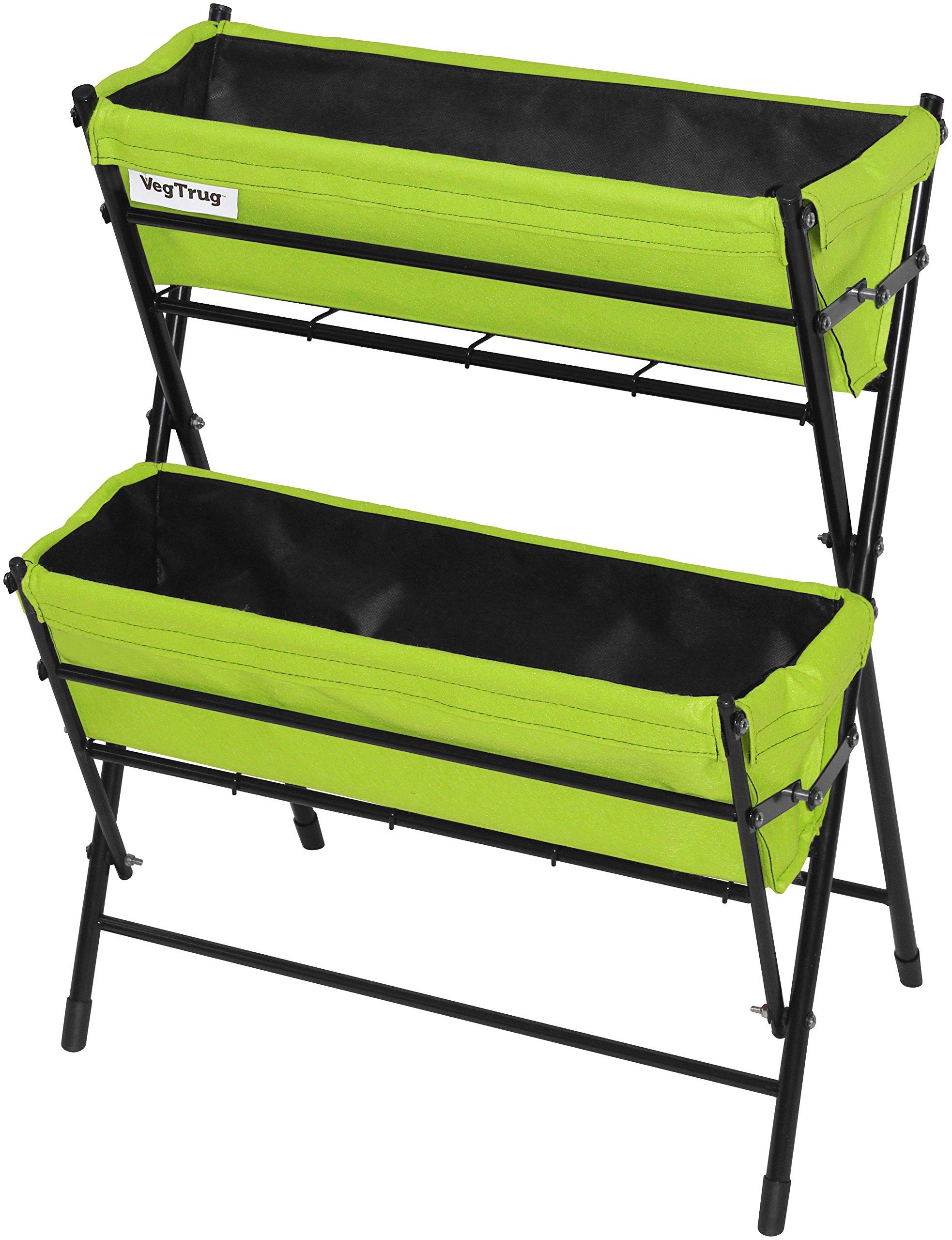 Vegtrug POP2WL302LG USA Poppy 2 Tier Ladder, Lime Green