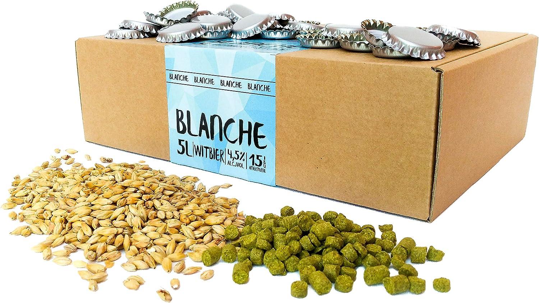 Recambio para kit de elaboración de cerveza de 5 litros - Receta de cerveza blanca belga - - Para preparar su propia cerveza artesanal – Instrucciones en Español