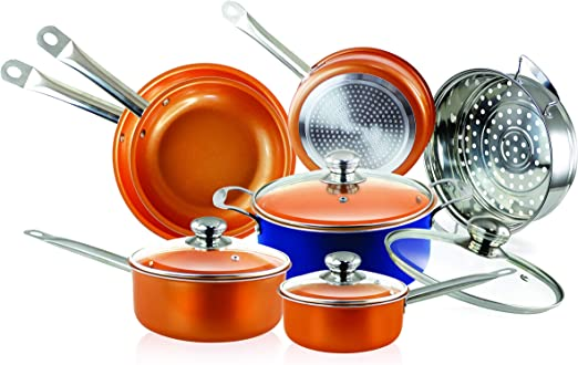 Amazon.com: Cobre Utensilios de cocina y sartenes (10 piezas ...