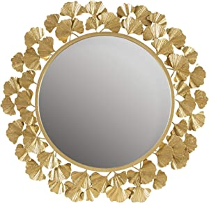 MARTHA STEWART Wall Décor Large Round Living Room Iron Metal Mirrors Ready to Hang Bedroom Decoration, 30.5