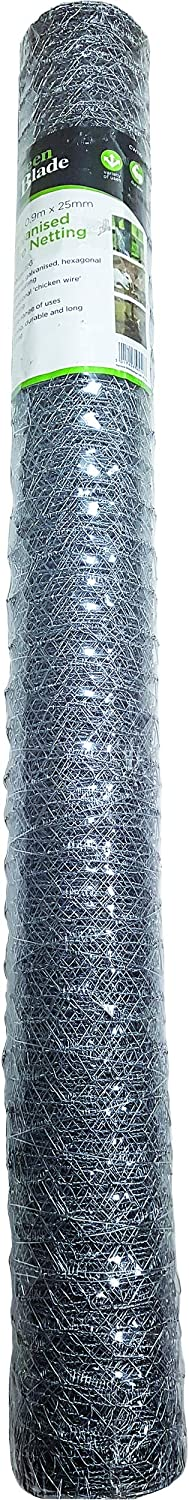 Green Blade BB-CW110 10 x 0.9m Galvanized Wire Netting with 25mm Mesh