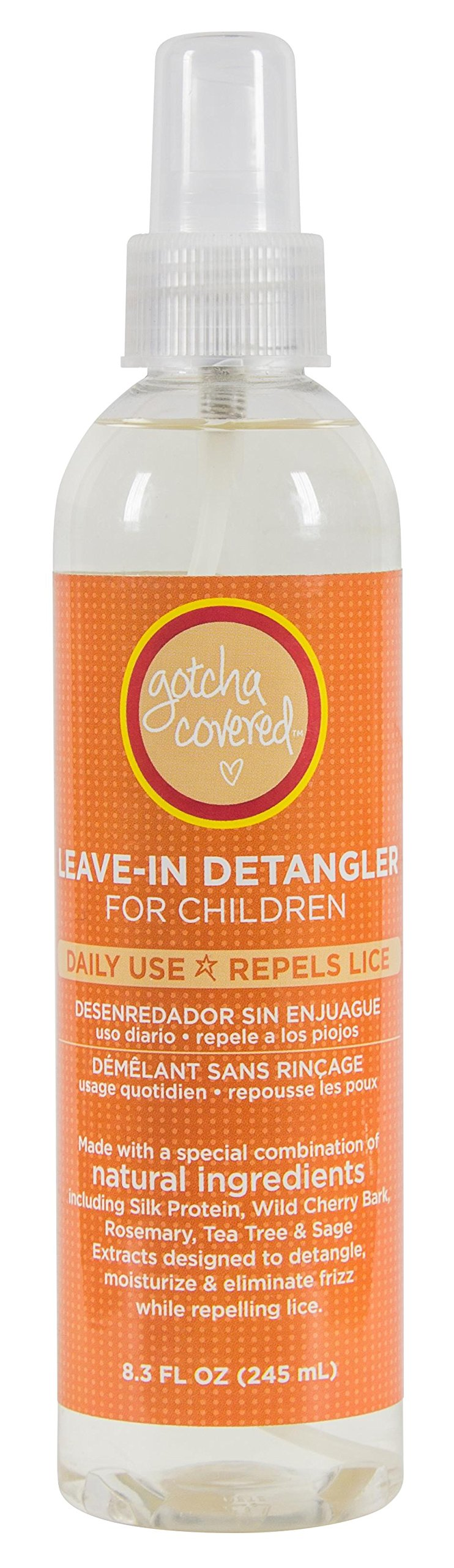 All Natural Head Lice Prevention Head Lice Leave-in Detangler for Adults and Kids, by Gotcha Covered, 8.3 fl. oz