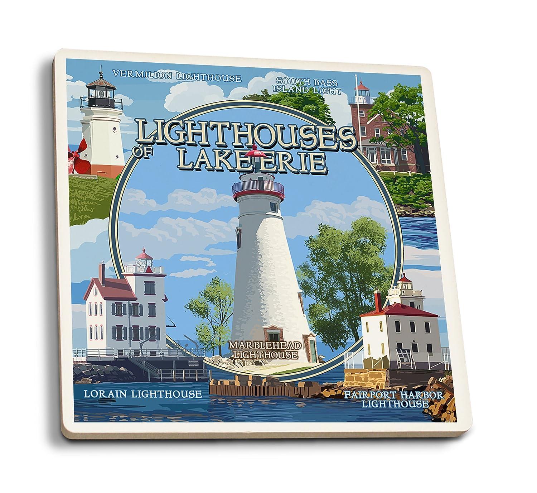 Amazon Com Ohio The Lighthouses Of Lake Erie Set Of 4