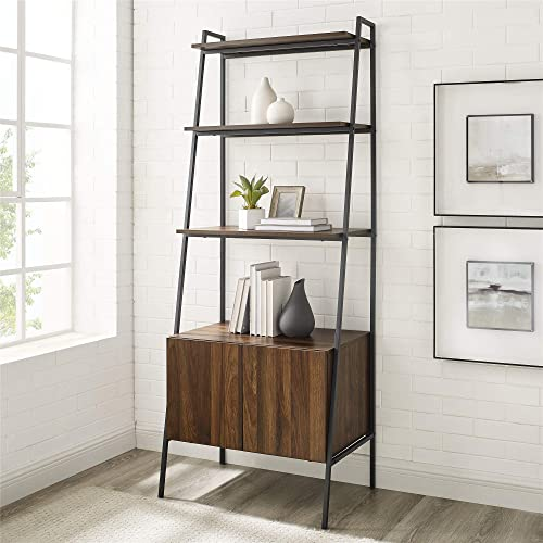 Editors' Choice: Walker Edison Industrial Wood Ladder Bookcase Home Office Workstation