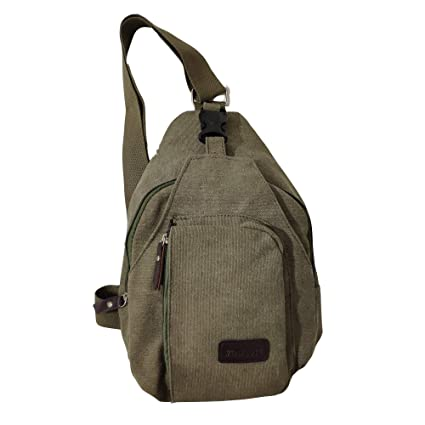 d66309df9 Fashi Cool Outdoor Sports Casual Canvas Unbalance Backpack Crossbody Sling Bag  Shoulder Bag Chest Bag for