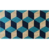 A1 Home Collections A1HOME200069 Geometric Blocks Pattern Decorative Door Mat