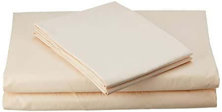 Bombay Dyeing Comfort Cotton Double Bedsheet with 2 Pillow Covers - cream