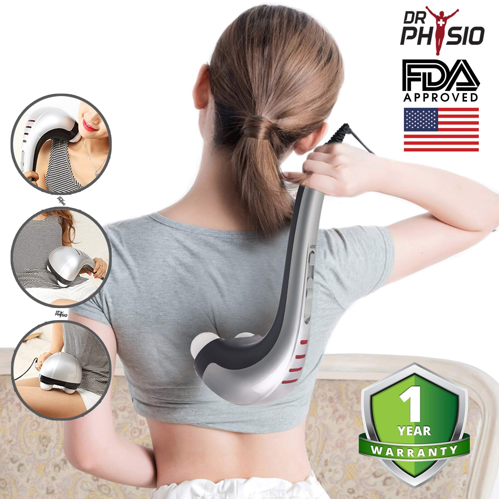 Dr Physio (USA) Electric Hammer Pro Body Massager (Gray) product image