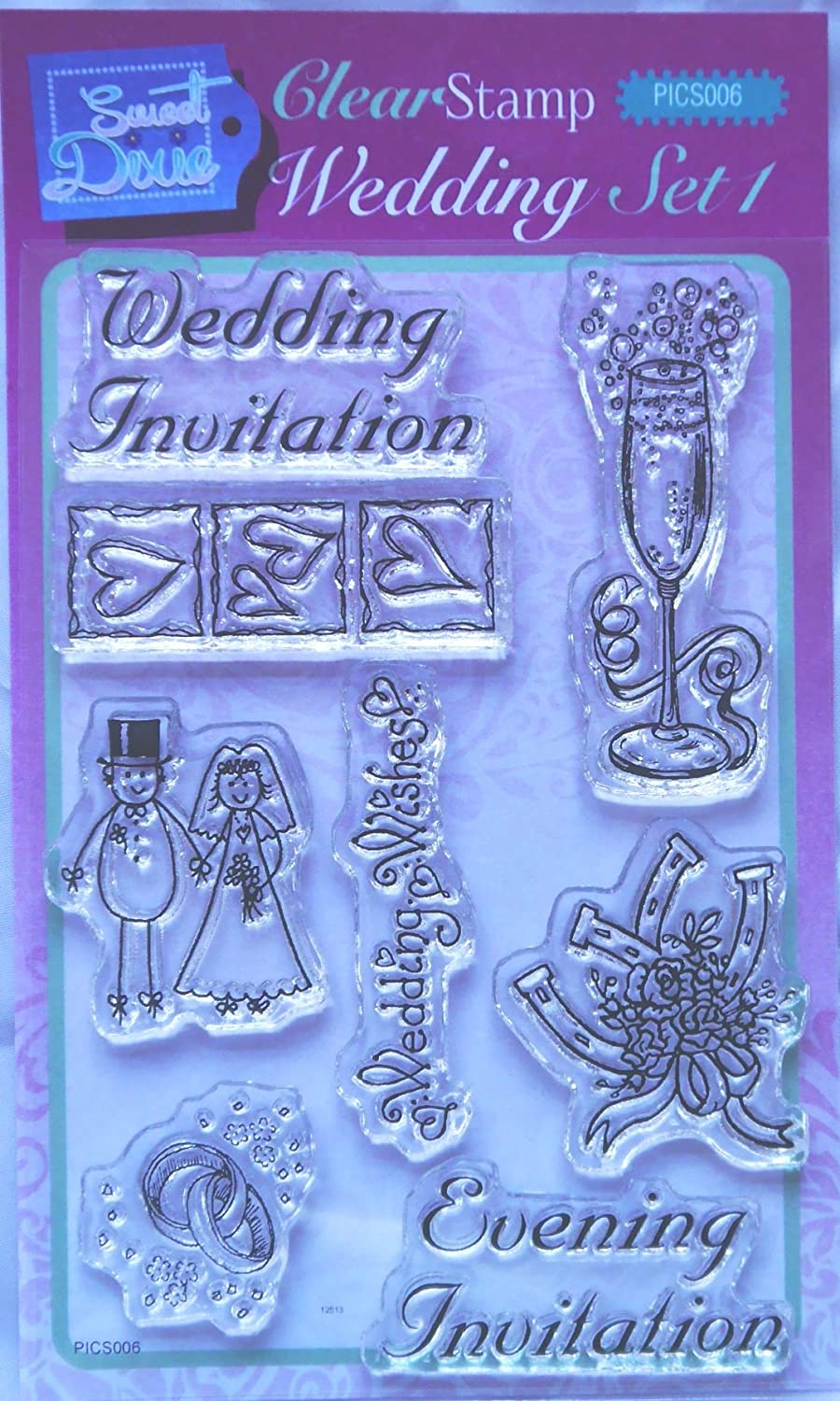 Personal Impressions/Sweet Dixie CLEAR STAMP SET Wedding ...