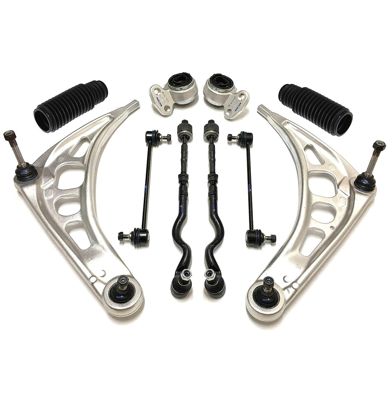 For BMW 330i 330xi 330Ci Front Rear  Drill Slot Brake Rotors+Ceramic Brake Pad