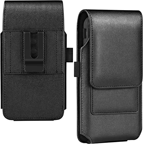 ykooe Handy G/ürteltasche Nylon mit Leder Vertikal Leinwand Magnetschnalle G/ürtel Schutztasche G/ürteltasche mit G/ürtelklammer iPhone 8 und Karte H/ülle Schwarz