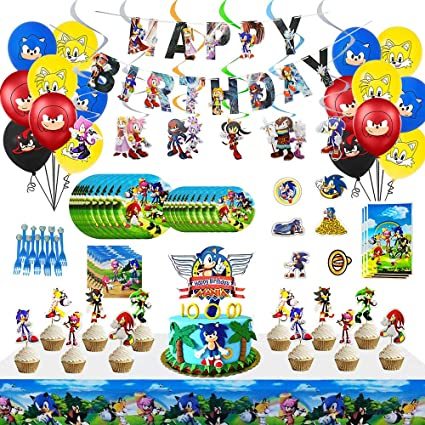 Sonic The Hedgehog Party Supplies Sonic The Hedgehog Party Decoration Boys Birthday Party Favors Spoons Fork
