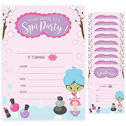 Tarjetas De Invitación De Cumpleaños Estilo Spa 2 10