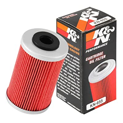 K&N Motorcycle Oil Filter: High Performance, Premium, Designed to be used with Synthetic or Conventional Oils: Fits Select KTM, Husqvarna Vehicles, KN-655: Automotive