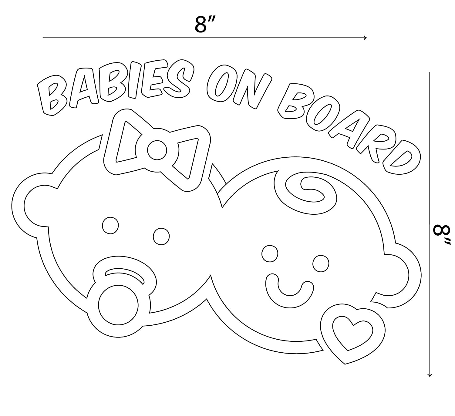 B07BZ546D9 Babies on Board Stickers For Cars Window Decal Truck Gift 71bsSrjh8jL