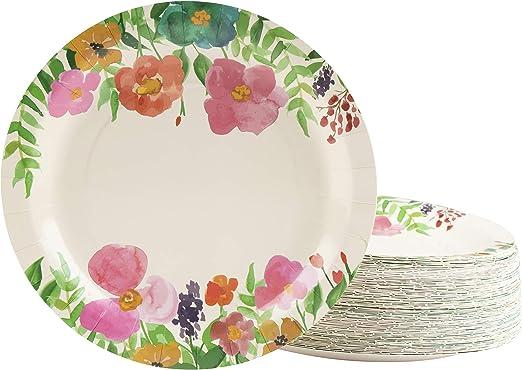 Amazon.com: Platos desechables – 80 platos de papel, diseño ...