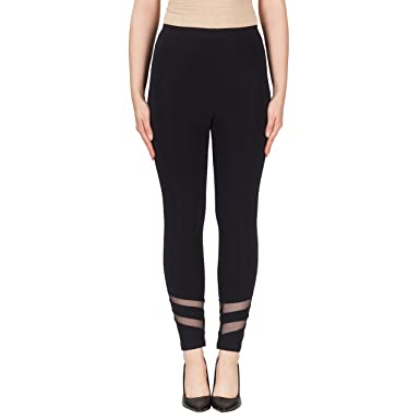 4ea304fe05bafa Joseph Ribkoff Midnight Blue Stretch Pants with Ankle Cut Outs Style ...