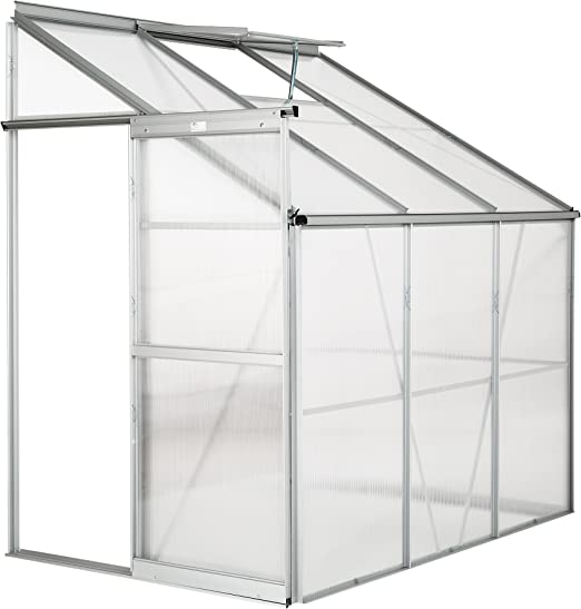 TecTake Invernadero de jardín policarbonato Transparente Aluminio casero Plantas Cultivos 4, 09m³ - Varios Modelos - (192x128x202 cm | no. 402470): Amazon.es: Jardín