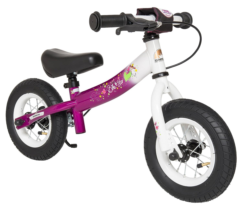BIKESTAR元安全軽量Kids FirstバランスRunning Bike withブレーキand with airタイヤfor Age 2年古いガールズ| 10インチスポーツEdition | Bewitchingベリー B01ID3U7BM