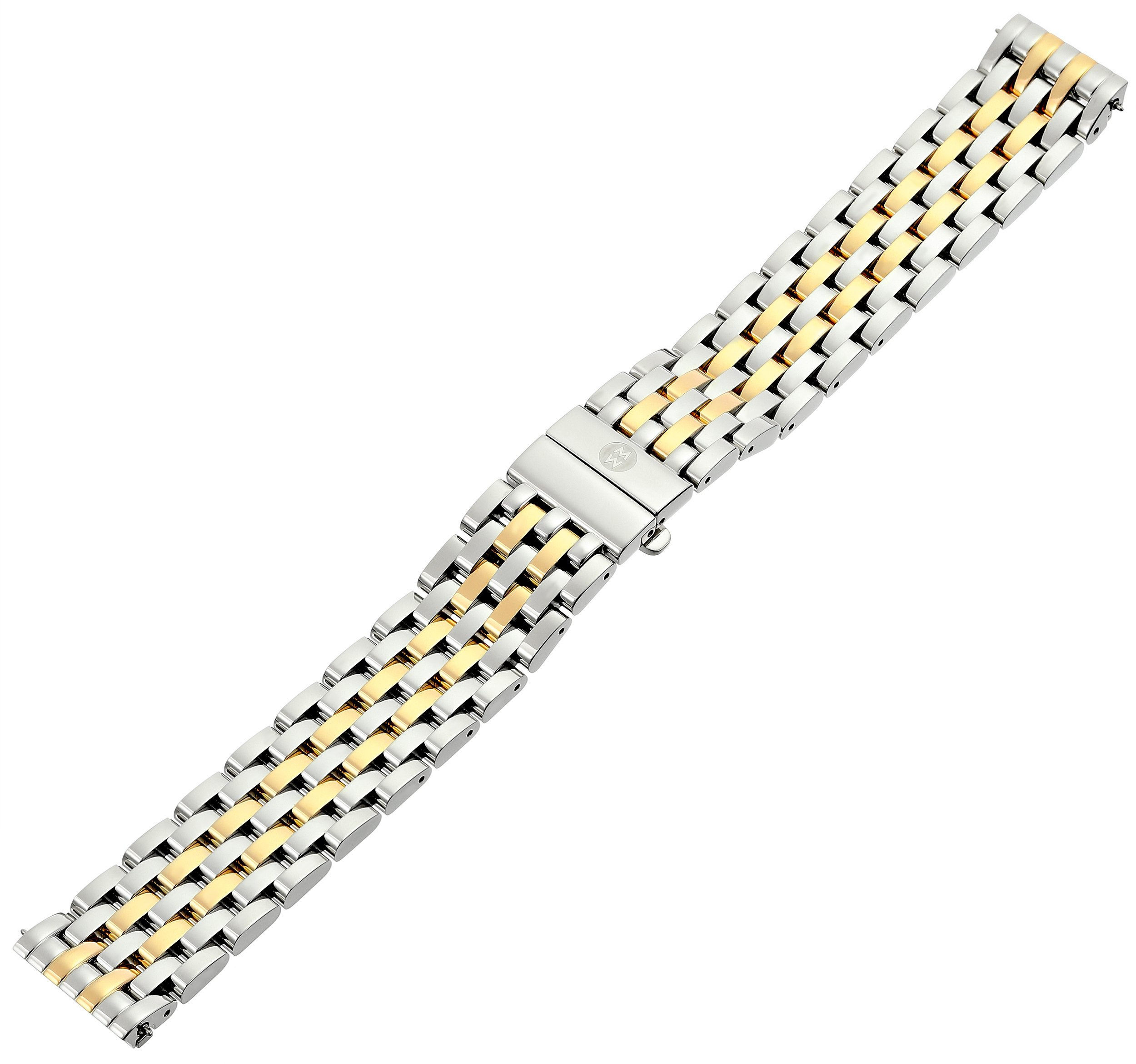 MICHELE MS16DM285048 Deco 16 16mm Stainless Steel Two Tone Watch Bracelet