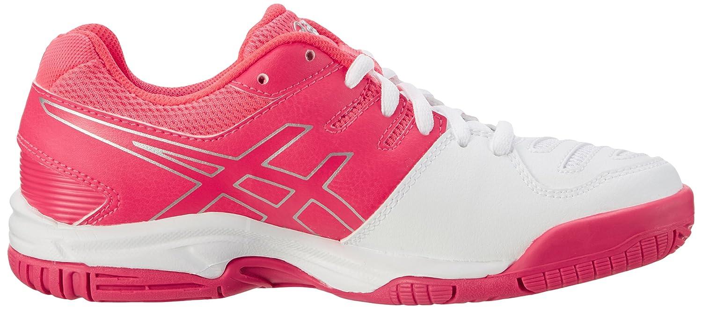 Asics C502Y0120, Zapatillas de Tenis Unisex Niños, Blanco (White/Diva Pink/Silver), 39 EU