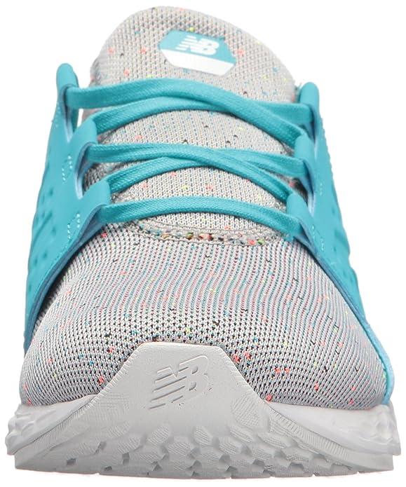 New Balance Kids Cruz v1 Running-Shoes, Grey/Ozone Blue, 6 W US ...