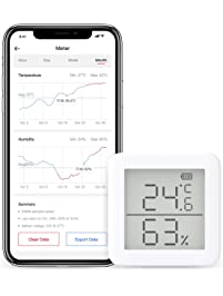 SwitchBot Thermometer Hygrometer Alexa iPhone - Android Wireless Temperature Humidity Sensor with Alerts, Add SwitchBot...