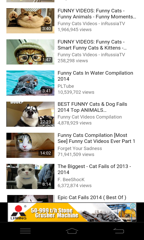 Image of: Background Amazoncom Amazoncom Top Funny Cat Videos Appstore For Android