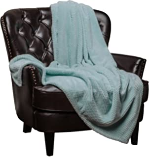 Chanasya Super Soft Warm Elegant Cozy And Decorative Velvet Fleece Aqua  Blue Microfiber Throw Blanket (