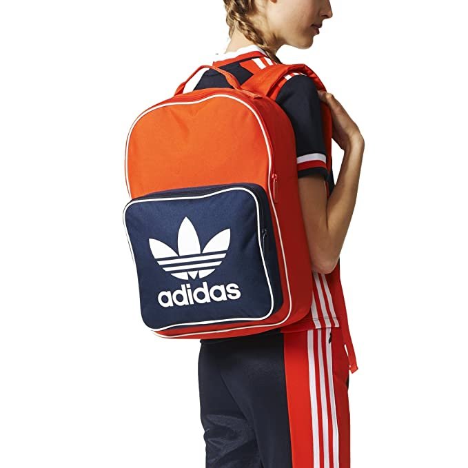 adidas Unisex Adidas Originals Classic Trefoil Travel Backpack, Red, One  Size ff087dd7bf