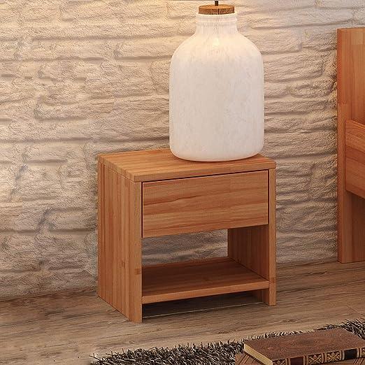Krok Wood Nachttisch Julia Aus Massivholz 40x40x40 Cm In Buche Amazon De Kuche Haushalt