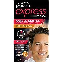 Restoria Express Brush-In Hair Colour, Grey Hair Coloring For Men, Restores You Natural Look - Dark Brown