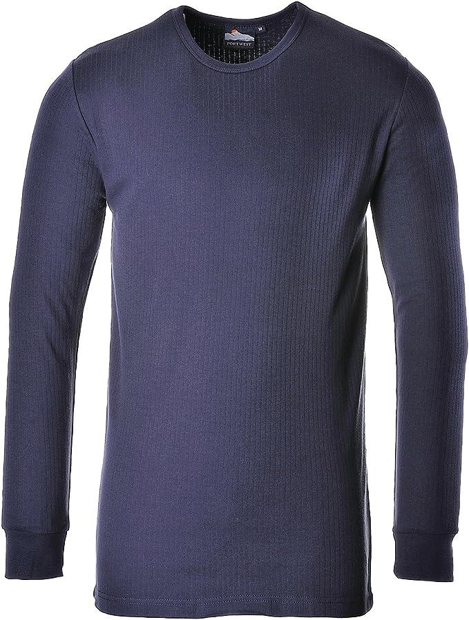 Portwest B123 - Camiseta térmica L/SLV, color Armada, talla 3 XL
