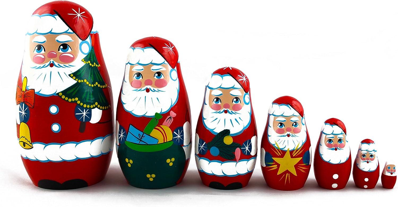 5pcs Hand Painted Russian Nesting Doll of The Flinstones Medium