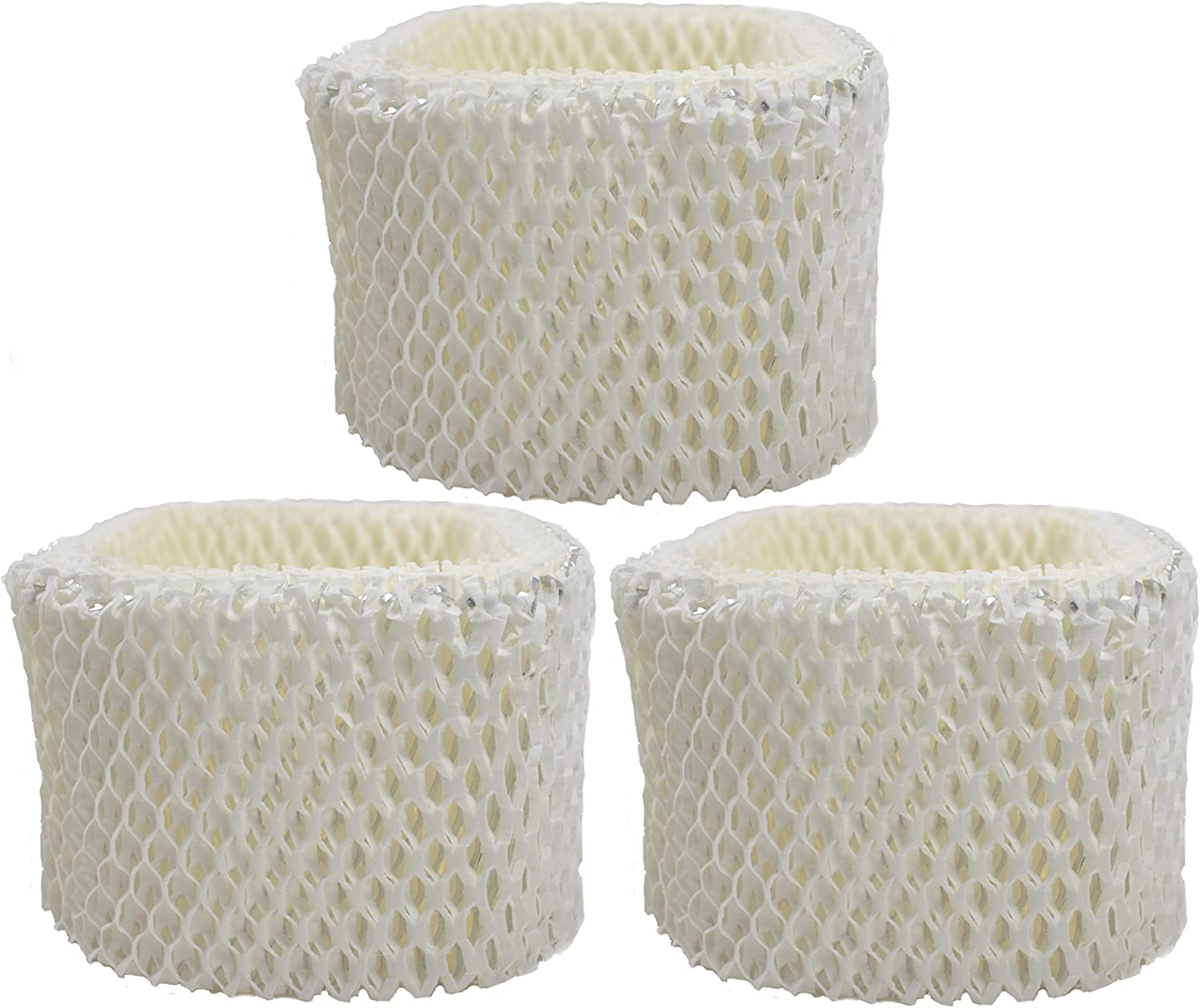 Air Filter Factory 4 Pack Compatible Replacement for Honeywell HCM-525 Humidifier Wick Filters