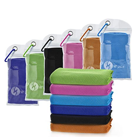Fitness Ice Towel Running Workout,Camping Soft Breathable Chilly Towel 40x12 Sport Cooling Towel Gym Workout /& More Activities 4 Pack Microfiber Towel for Yoga
