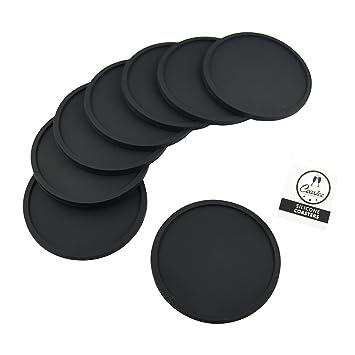 coastee silikon-untersetzer - 8 stück, schwarz, glasuntersetzer ... - Silikon Küche