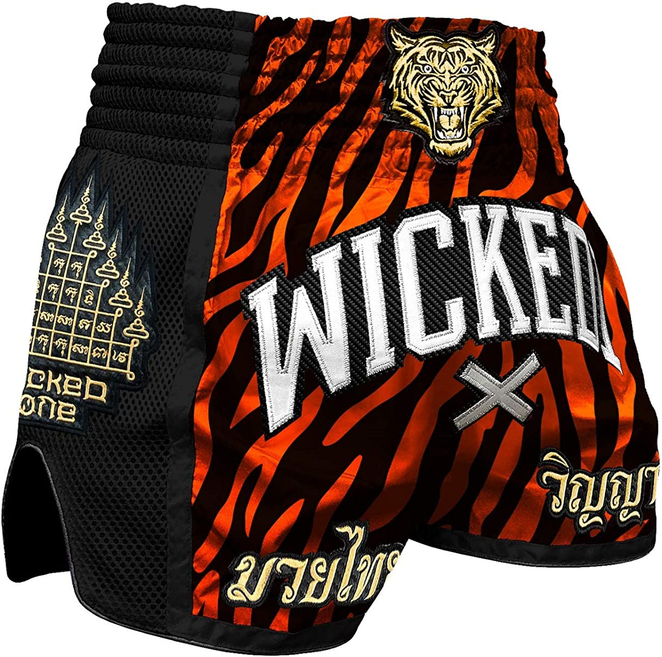 Moderne Thaiboxhose f/ür Herren Pride or Die Muay Thai Shorts Fight Club