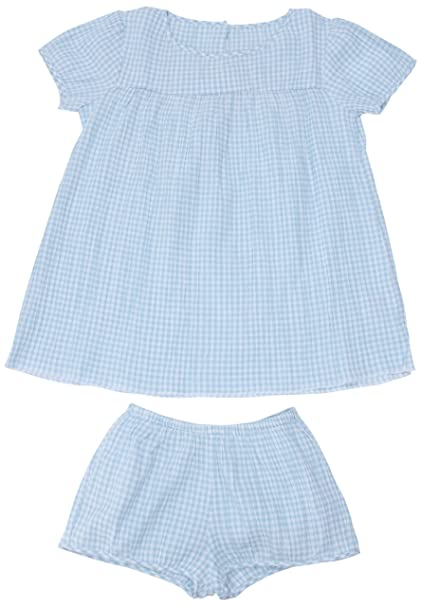 Petit Bateau - Pijama con cuello barco para niña, talla 2 Ans - talla francesa, color Espuma (Ecume)/Tiki: Amazon.es: Ropa y accesorios
