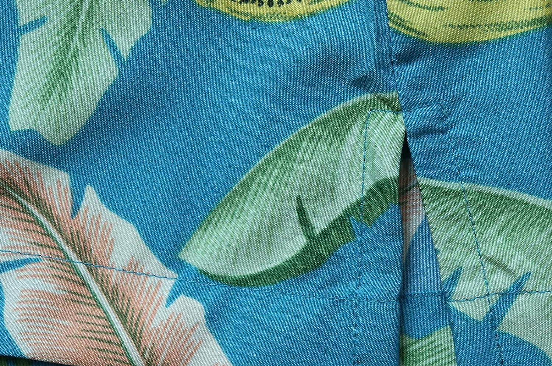Campamento Divertido Fiesta Informal Hojas de pl/átano Camisas Hawaianas para Hombre Aloha Playa ALVISH