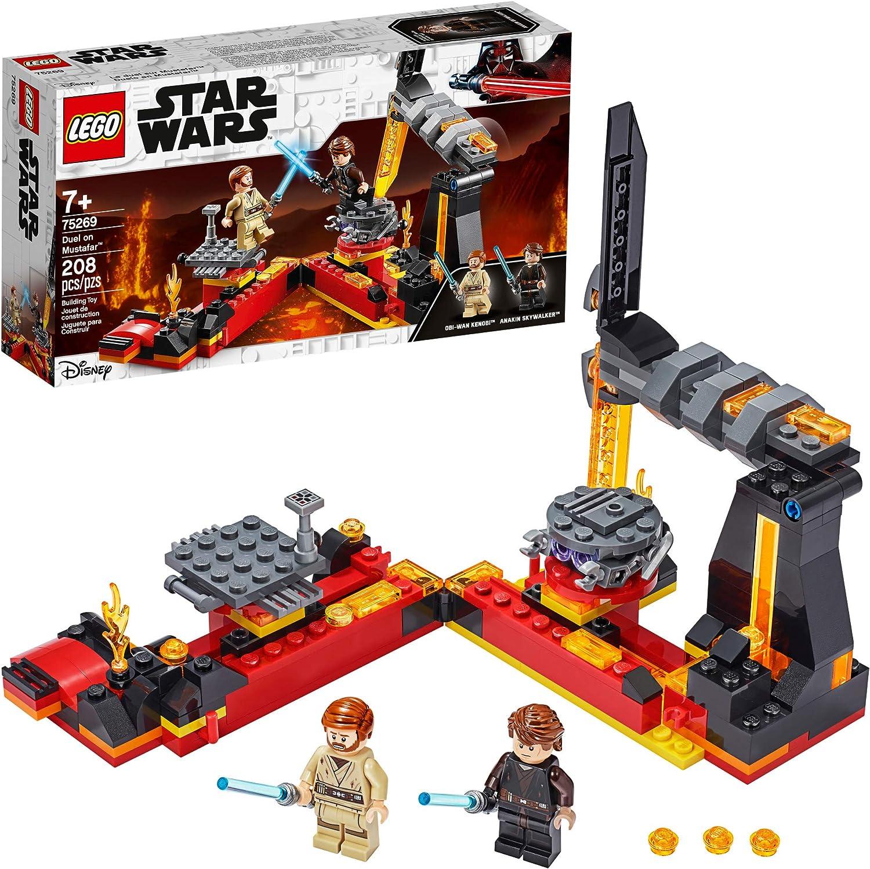 LEGO Star Wars: Revenge of the Sith Duel on Mustafar 75269 Anakin Skywalker vs. Obi-Wan Kenobi Building Kit, New 2020 (208 Pieces)
